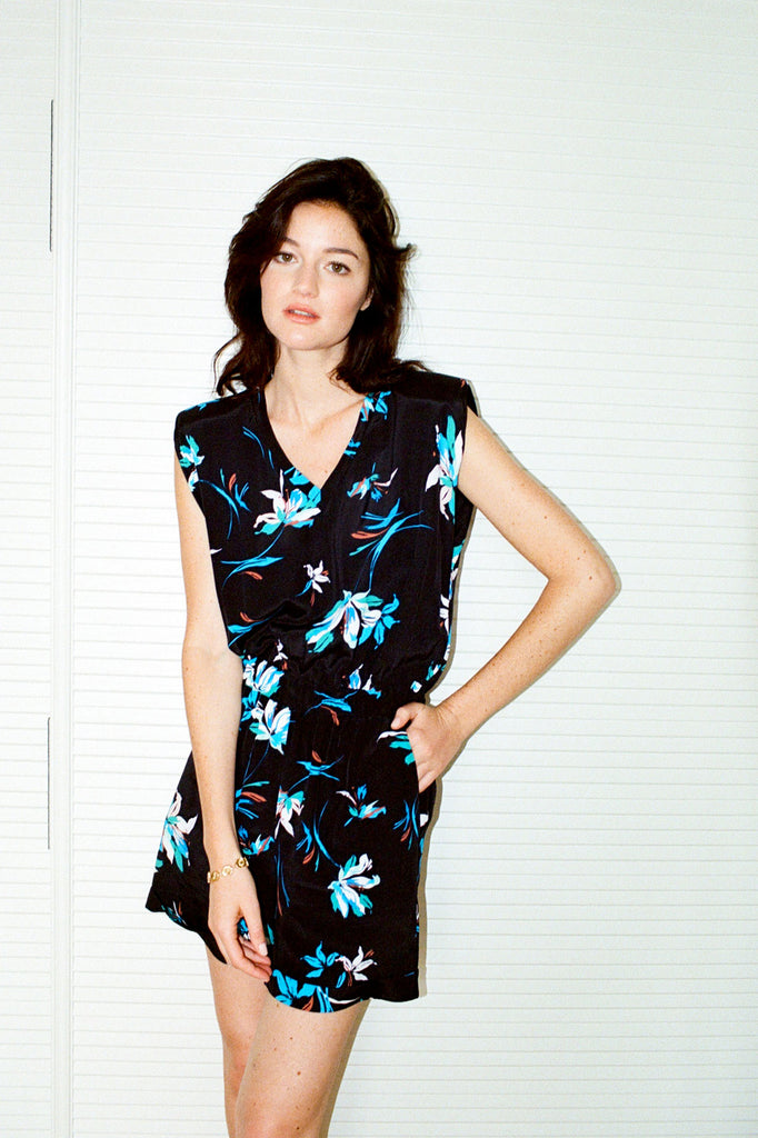 HELENA - Black Flowers Jumpsuit