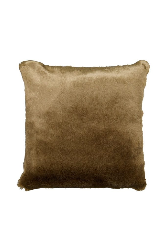 BROWNIE PILLOW - Brown faux fur