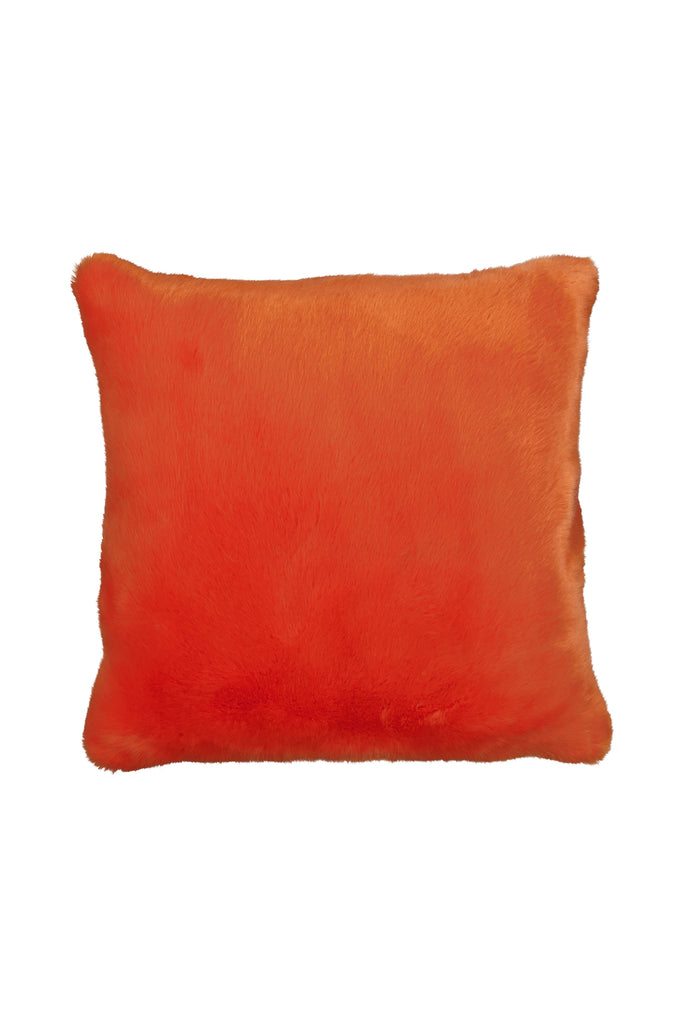 CARROT PILLOW - Orange faux fur
