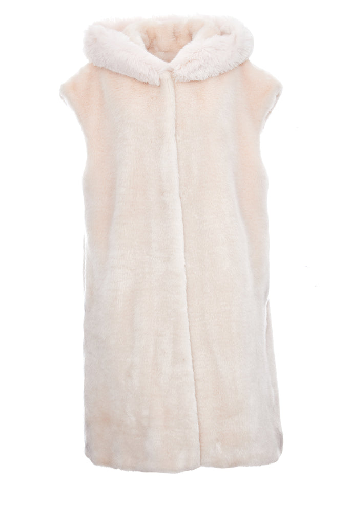 GABRIEL - Powder Pink Faux Fur Vest