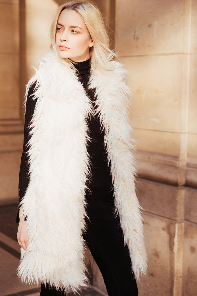 ISIS - Snow White Faux Fur vest