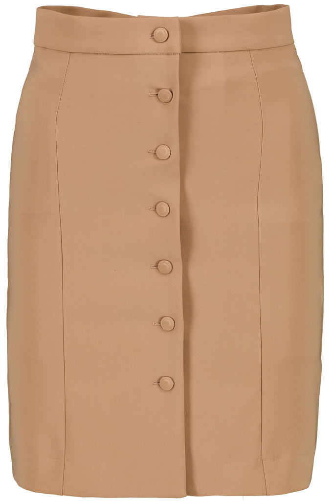 IRIS - Brown buttons skirt sustainable