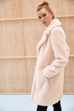 LOUVE - Powder Pink Faux Fur Coat