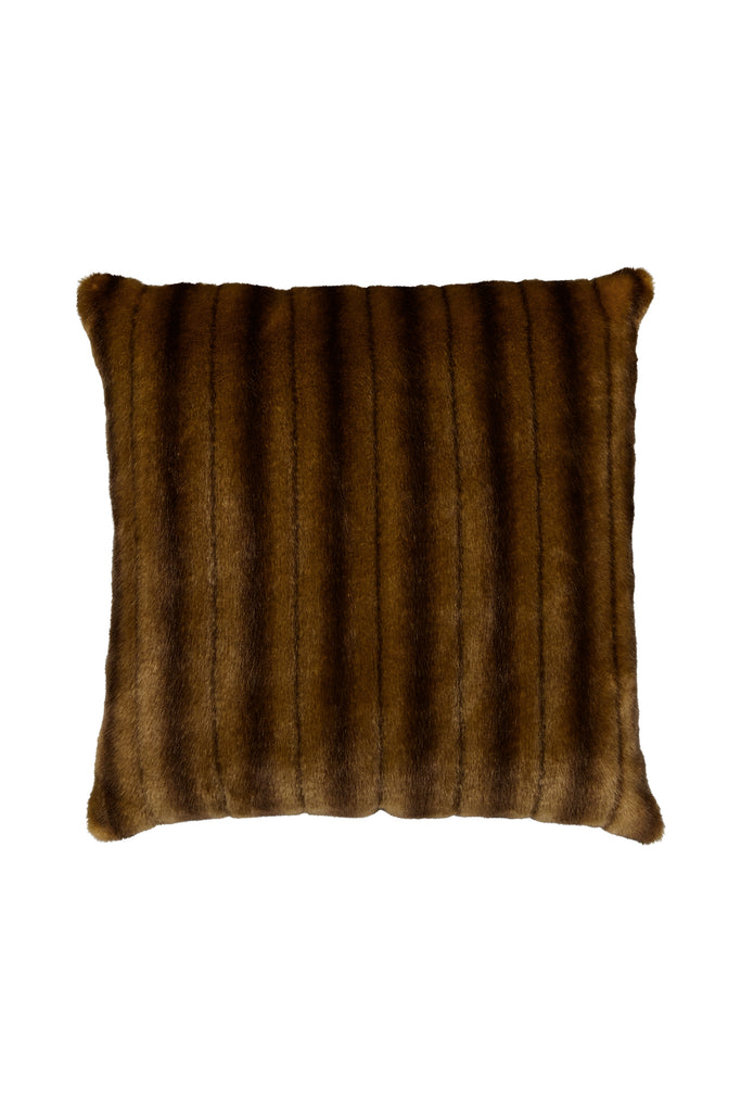 NUT PILLOW - Light Brown Mink faux fur