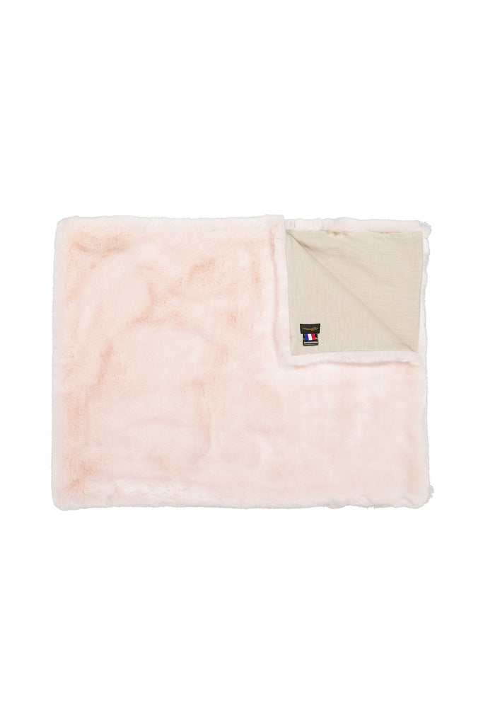CHAMALLOW PLAID - Pink faux fur