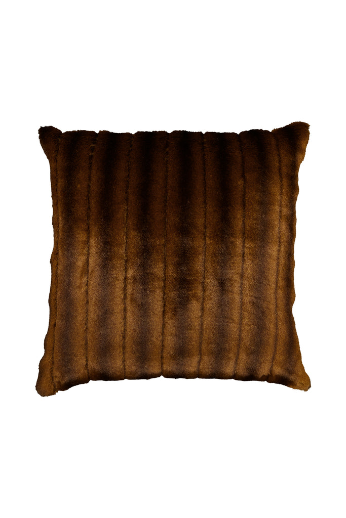 CHOCOLATE PILLOW - Dark Brown Mink faux fur