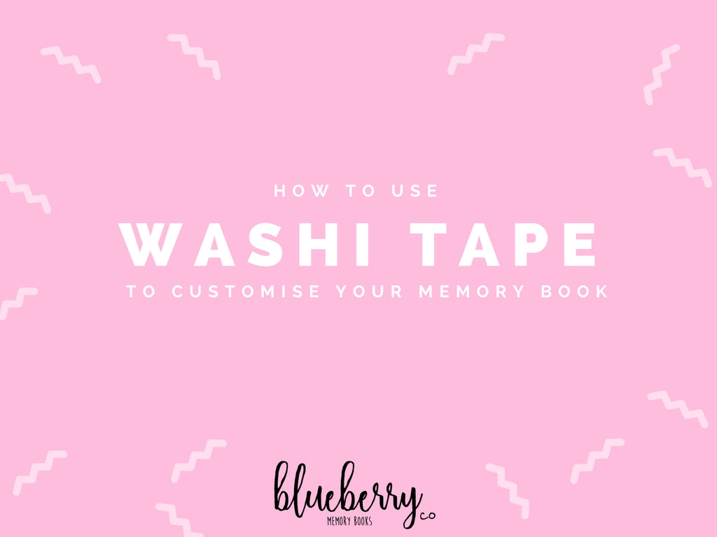 How to use Washi tape in your Monochrome Baby Book