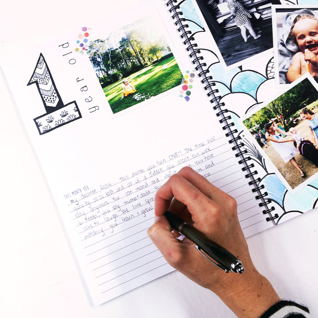 How to... use coloured pencils to customise your Monochrome Baby Book