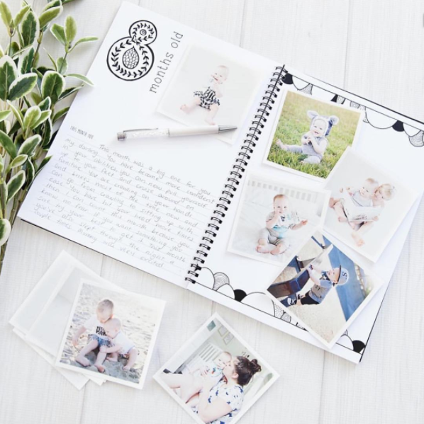 Monochrome Baby Book - Modern Baby Journal