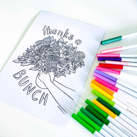 MOther's Day printable colouring in sheet