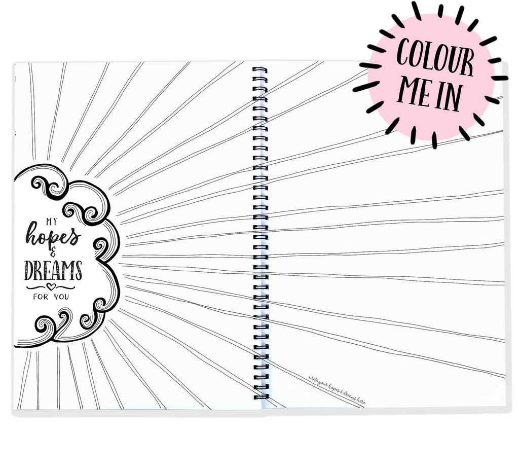 Blueberry Co Pregnancy Journal: The best modern pregnancy diary you can colour in! Suitable for IVF diary and same-sex families!