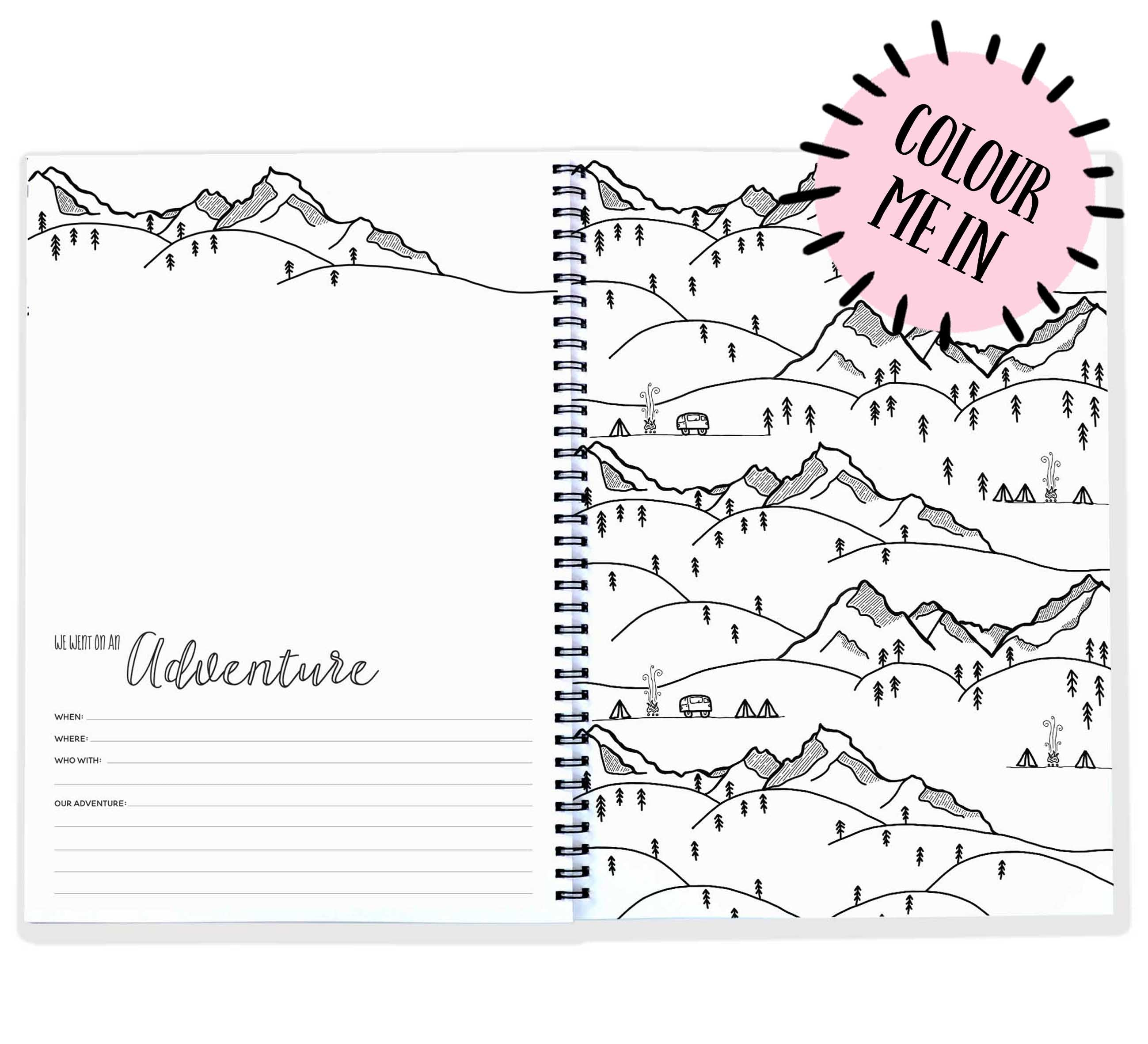 graphic about Our Adventure Book Printable known as Blueberry Co - Our Adventures