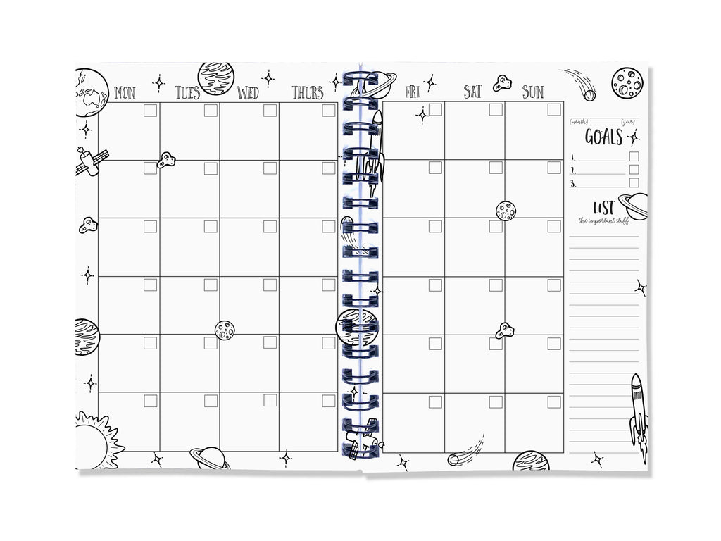 A5 Week to view diary and planner by Blueberry Co. The 'Our Busy Week Planner' is the perfect way to record all your important appointments in style. You can colour in your planner, pre-plan meals, to do lists, budgeting and birthdays www.blueberryco.com.au