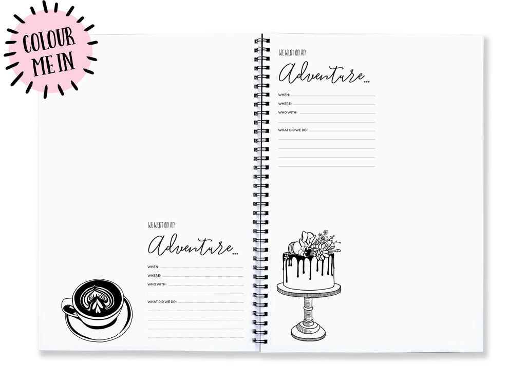 Blueberry Co Mum and Me Adventures // The best gift for the new mum in your life // Motherhood Journal // Mindful Parenting // Mum life // Perfect for single parents or the primary carer // record all those everyday moments like the park, playground, cafe as well as the big moments.  www.blueberryco.com.au