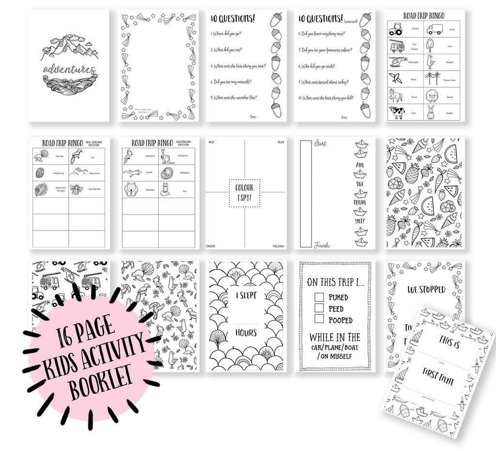Road Trip Activity Pack Printable {Digital download}
