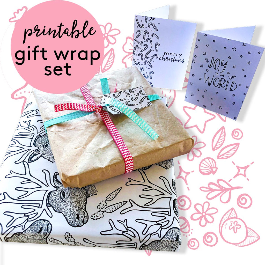 Gift Wrapping Set {digital download}