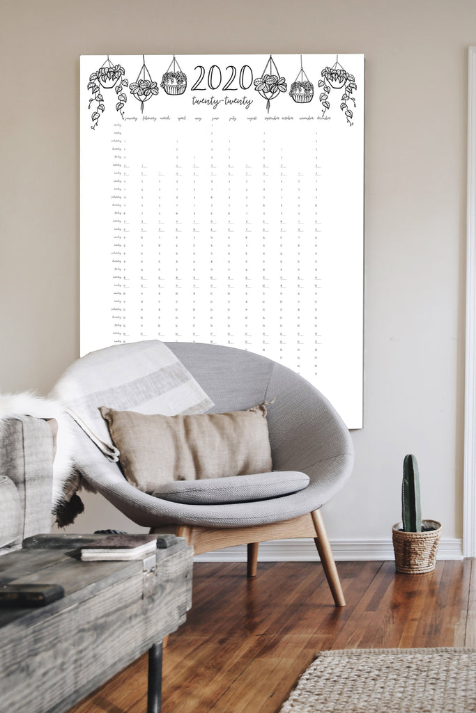 2020 Wall Calendar {digital download}