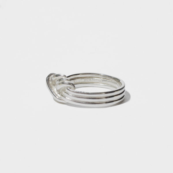 LOVERS KNOT SILVER RING