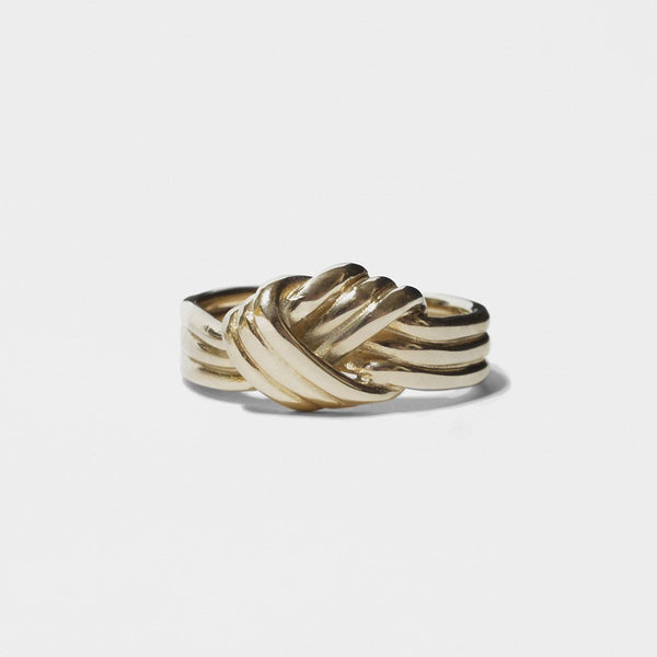 LOVERS KNOT RING GOLD