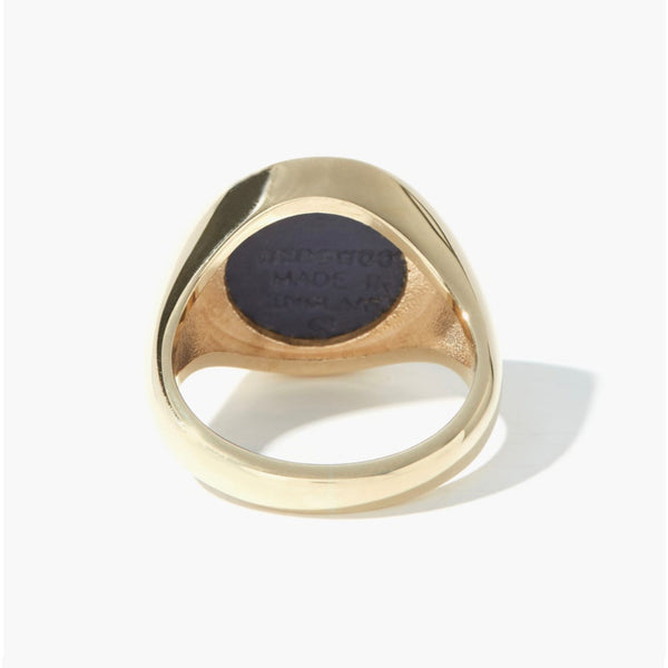 WEDGWOOD HORSE NAVY BLUE GOLD RING