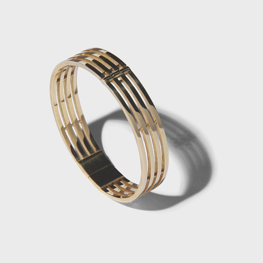 PARALLEL LINES BRACELET BRASS
