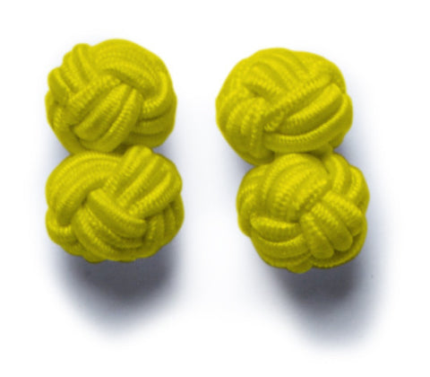 Knot-on-bar Cufflink - 216 yellow