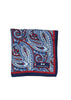 Silk Paisley Pocket square - 588 Blue
