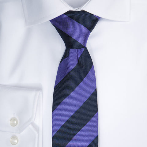 Regimental stripe - 608 Navy/purple
