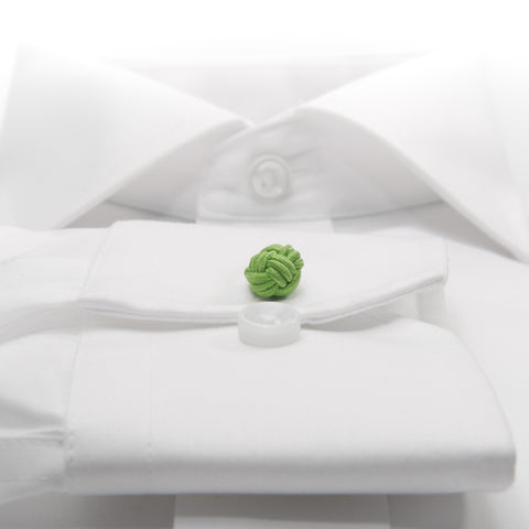 Knot-on-bar Cufflink - 727 green