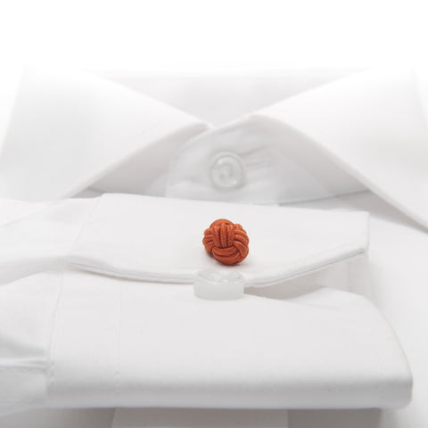 Knot-on-bar Cufflink - 303 orange