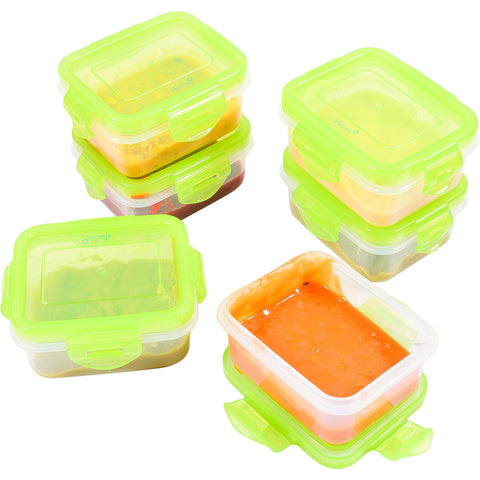 Baby Food Storage [6 oz] BPA Free Airtight Containers Set, Freezer & Microwave Safe, 6 Pack