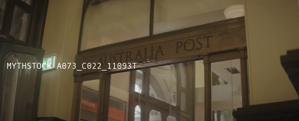 Heritage Australia Post signage in Sydney - hand-held shot