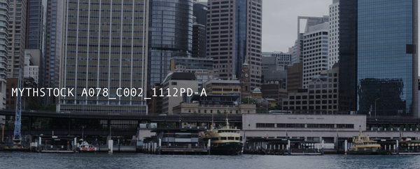 View of Circular Quay/Cahill Expressway from Sydney Harbour - handheld