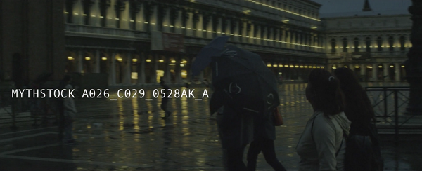 Tourists in the rainy dusk, Piazza San Marco