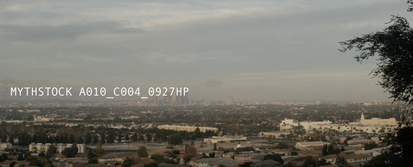 Los Angeles, View of Downtown, Cloudy Haze, Day - Pan