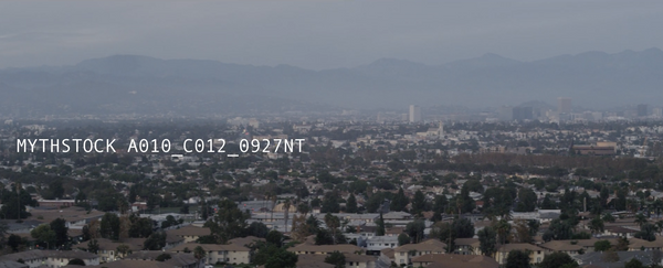 Los Angeles, View of Downtown, Cloudy Haze - Pan