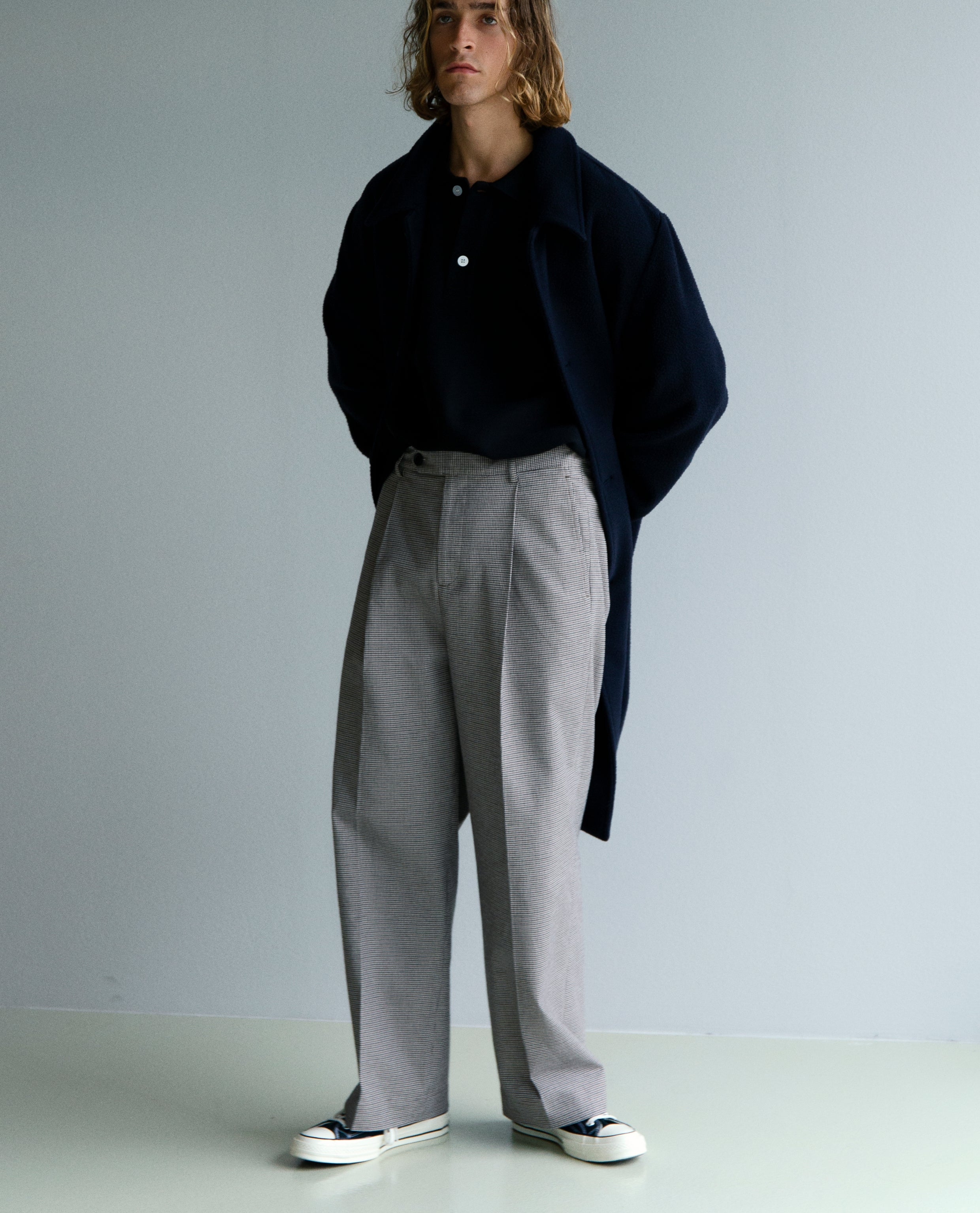 ATELIER BIG TROUSERS - BROWN CHECK