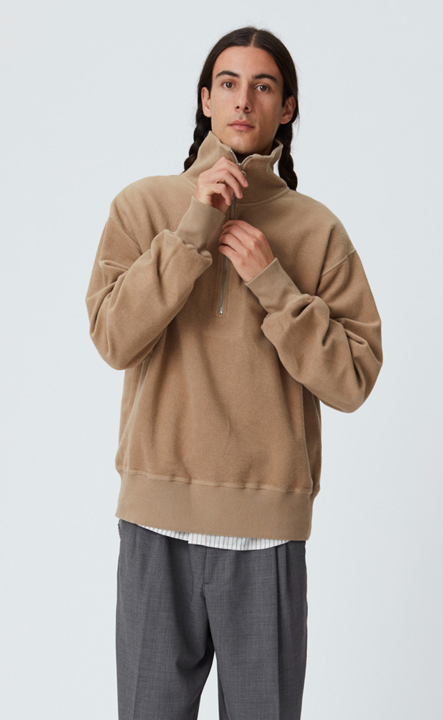 CHASER HALF ZIP - TAN