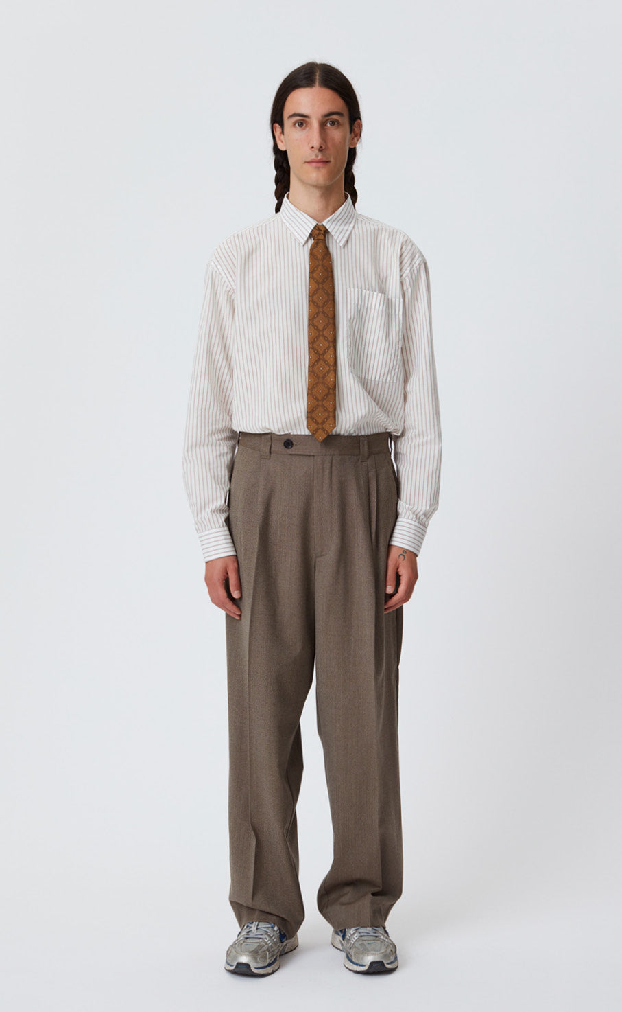 CLASSIC TROUSERS - BROWN