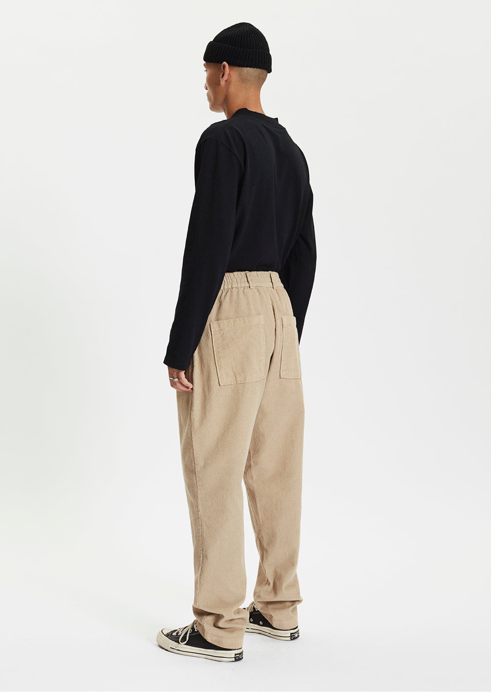 CORD TROUSERS - BEIGE