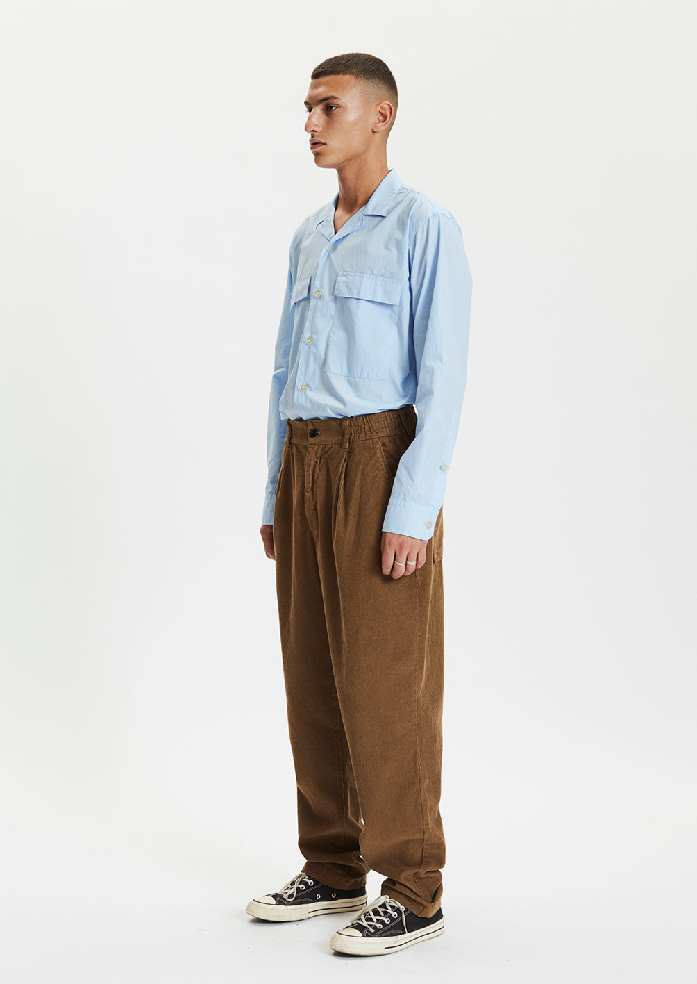 CORD TROUSERS - BROWN
