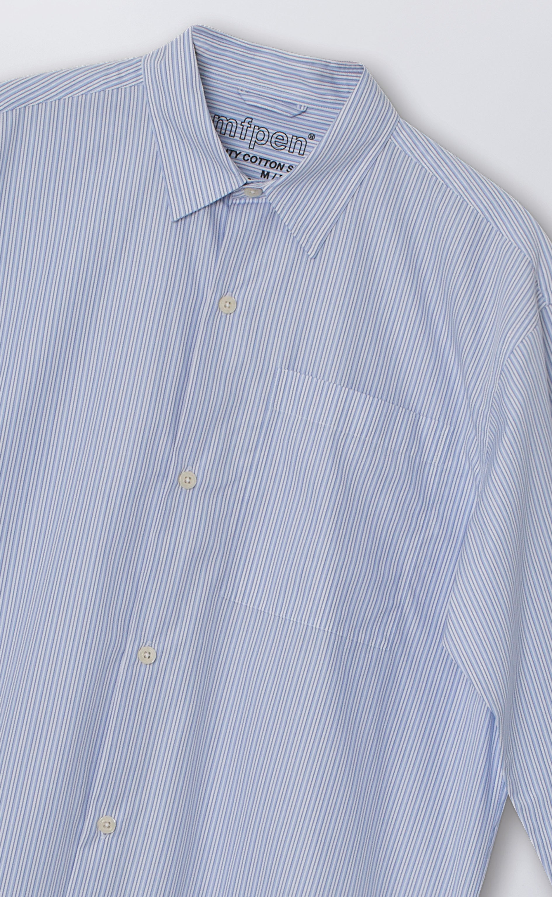 DISTANT SHIRT - LIGHT BLUE STRIPE
