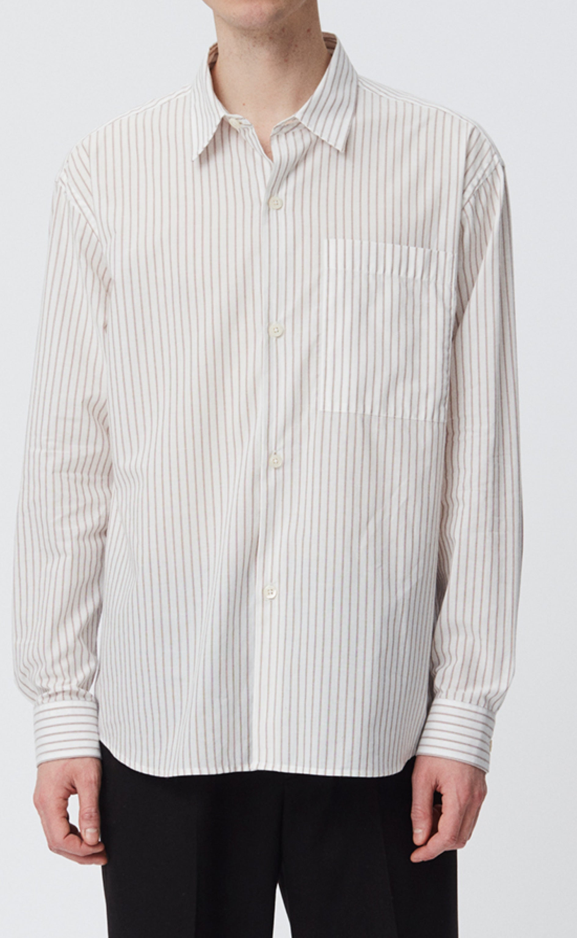 DISTANT SHIRT - CREAM STRIPE