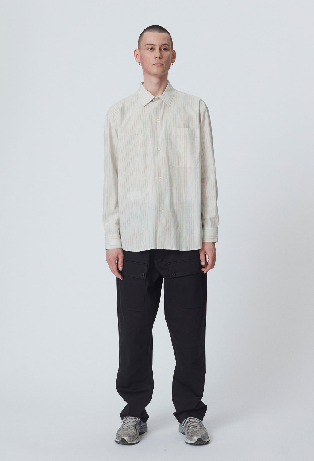 DISTANT SHIRT - ECRU STRIPE