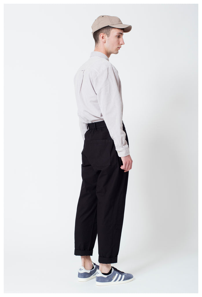 RIPSTOP FIELD TROUSERS - BLACK