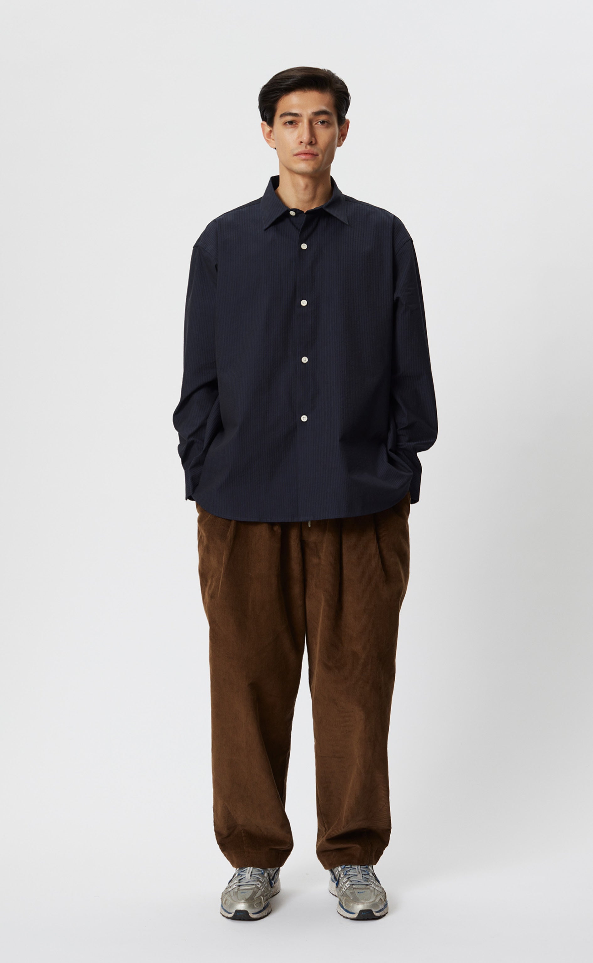 GENEROUS SHIRT - BLACK NAVY STRIPE