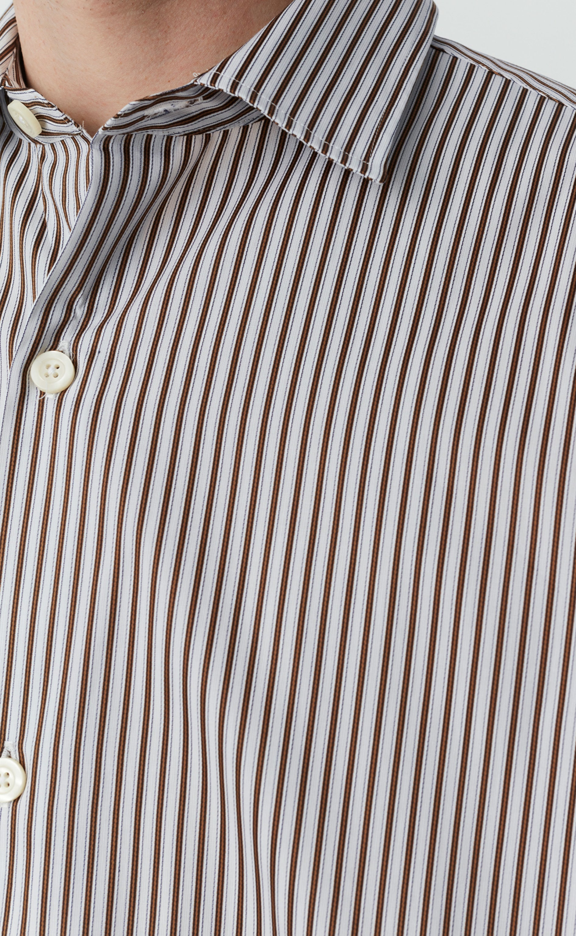 GENEROUS SHIRT - BROWN VINTAGE STRIPE
