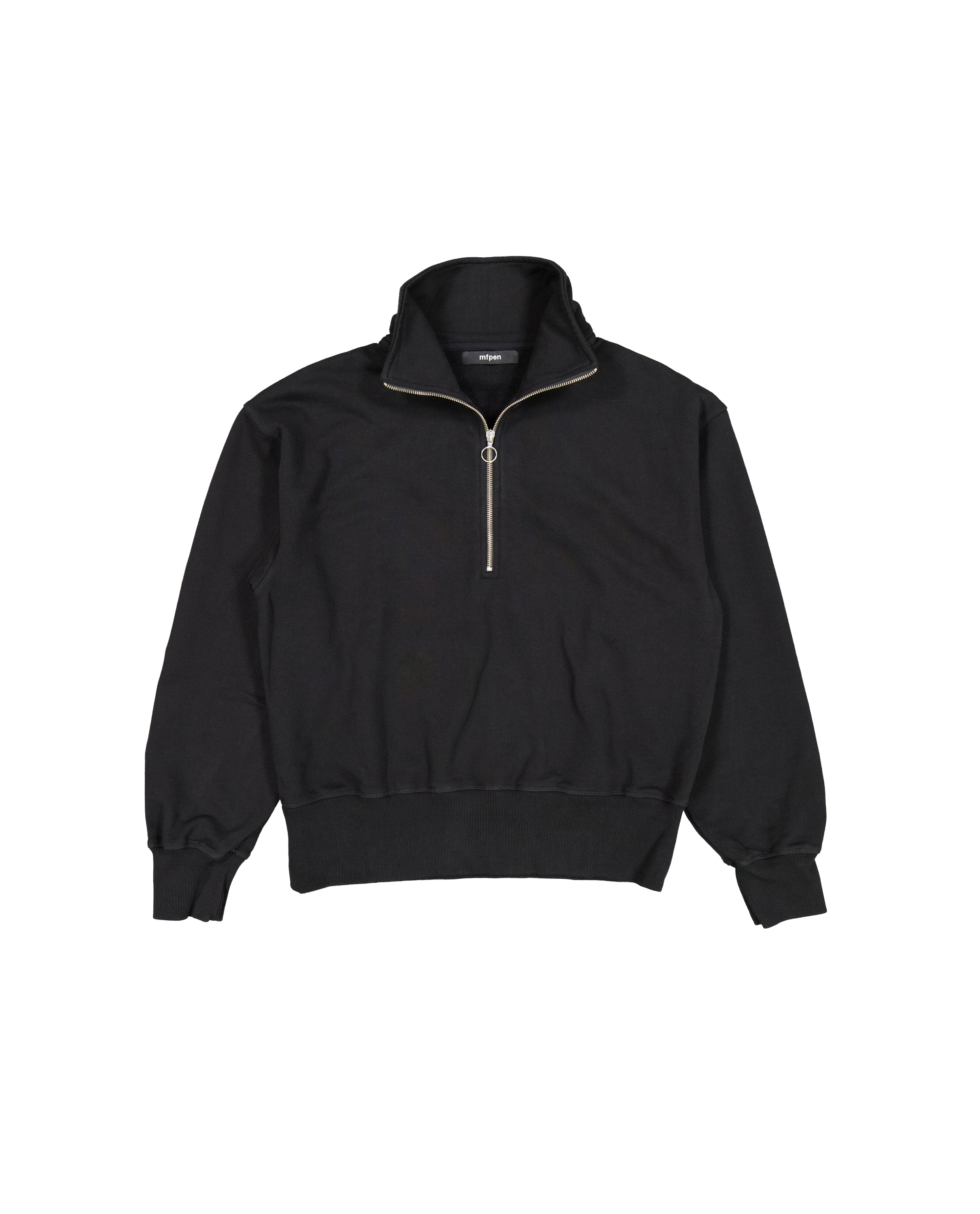 HALF ZIP SWEATER - BLACK