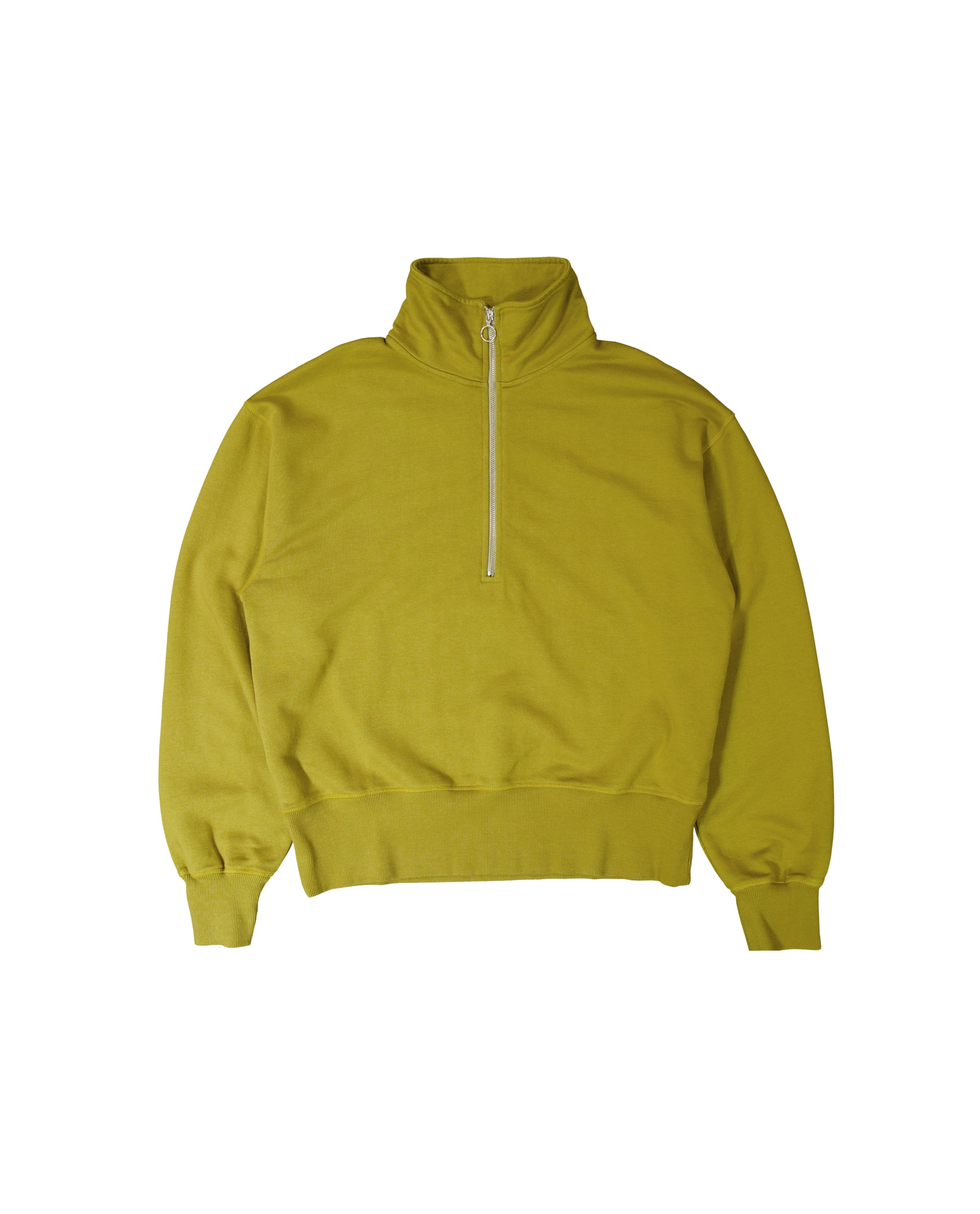 HALF ZIP SWEATER - GREEN LEMON