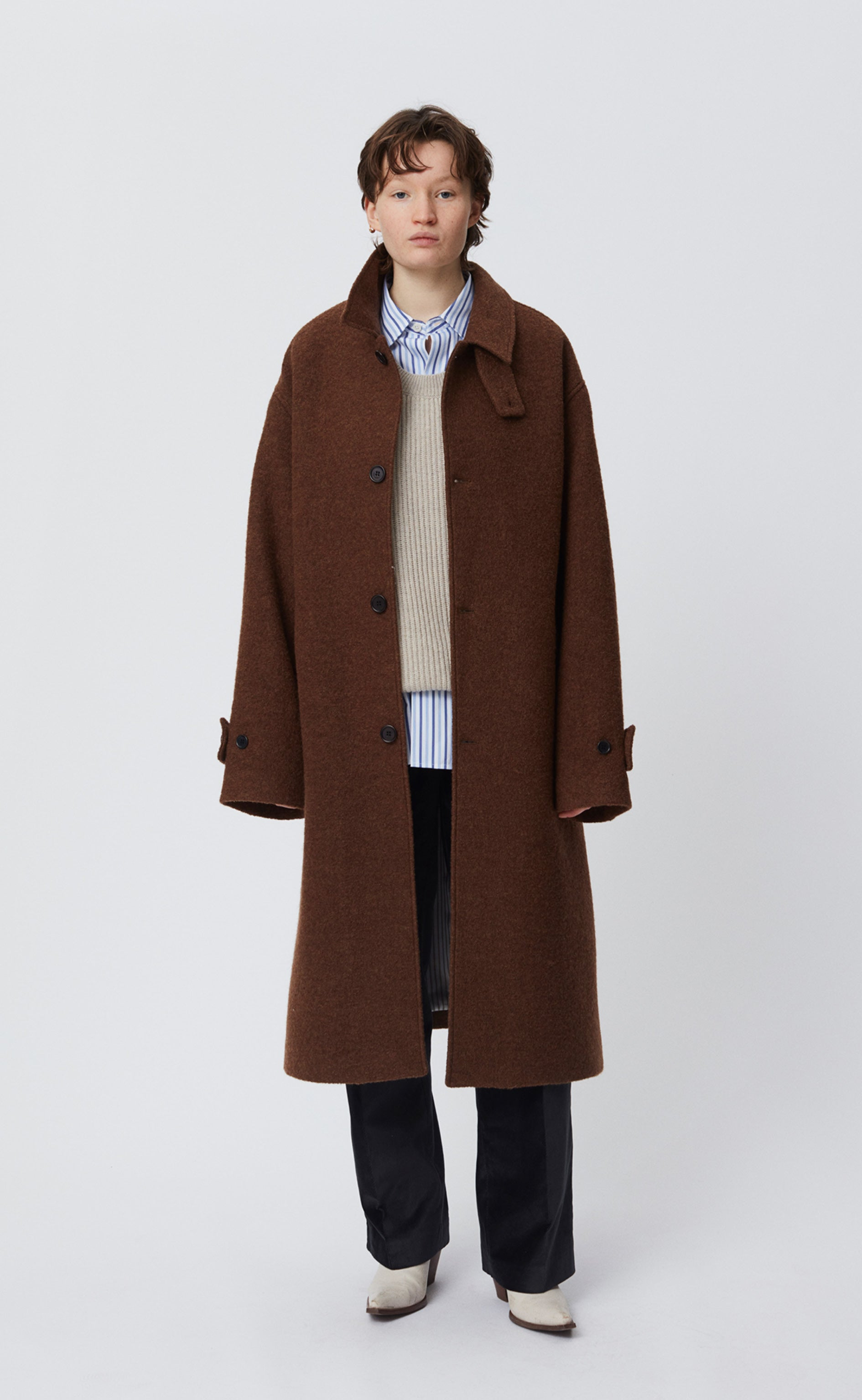 HOLLIS COAT - BROWN